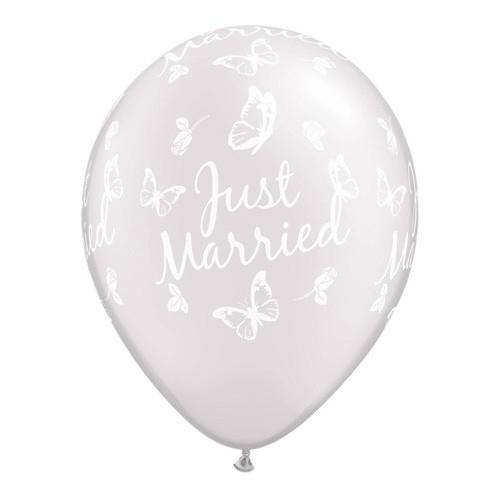 Just Married Butterflies-A-Round