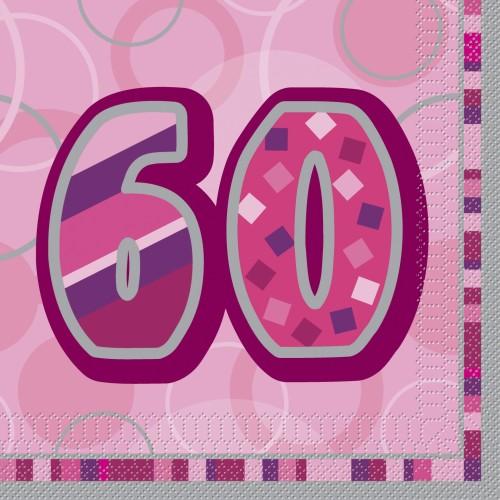 Bleščeča zabava- 50 pink prtički