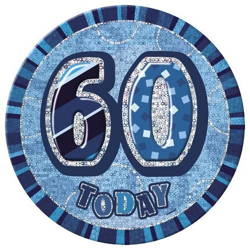 Bleščeča zabava-modra broška 50