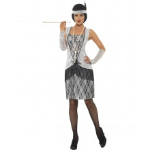 Flapper srebrn kostum