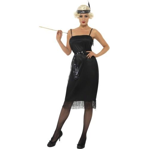 Flapper črn kostum
