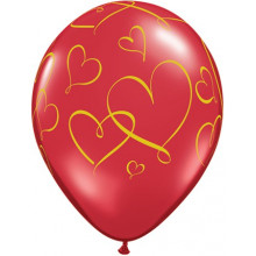 Balon Romantic Hearts