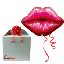 Big Red Kissey Lips - napihnjen