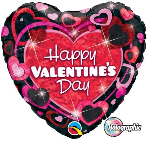 Valentine's Shimmering Hearts 45 cm - folija balon