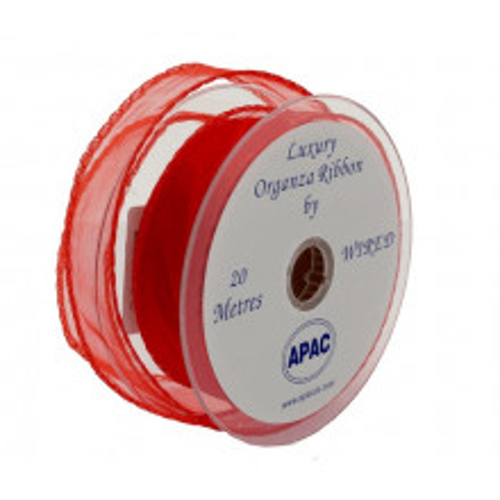 Rdeč organza trak