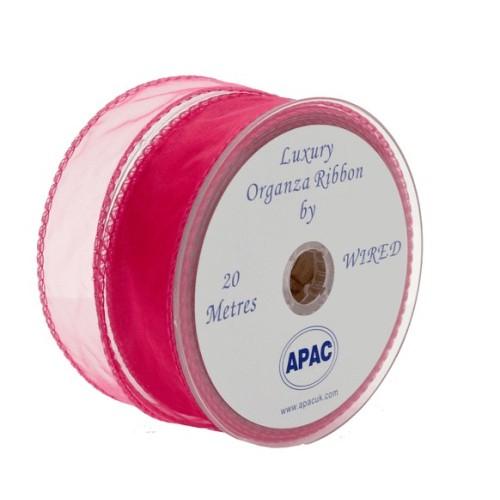 Močna roza organza trak