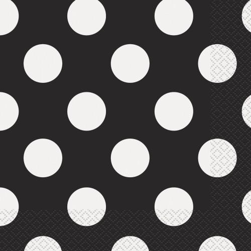 Črni prtički s pikami