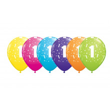 Printed balloons - number 1