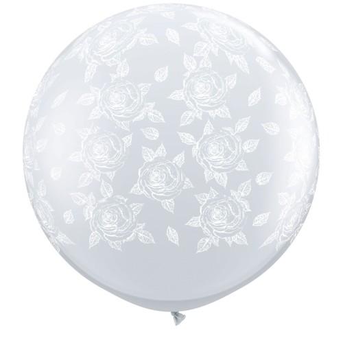 Veliki tiskani balon - elegantne vrtnice