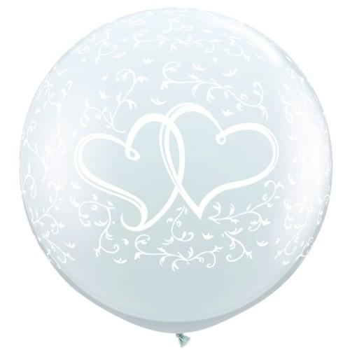 Veliki tiskani balon - dvojno srce