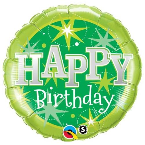Birthday Green Sparkle