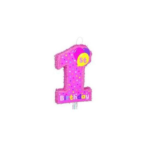 Prvi rojstni dan pinata - pink
