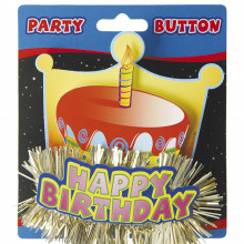 3D broška Happy birthday