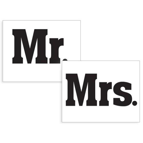 Nalepke za čevlje Mr. in Mrs.