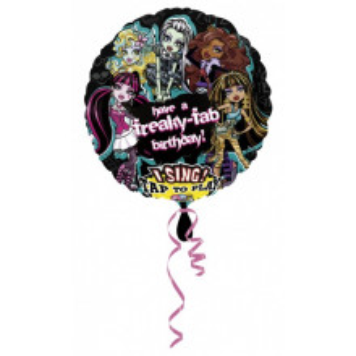 Monster High Birthday Singing balon
