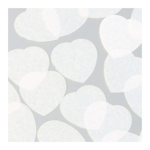 konfeti v obliki srca - beli