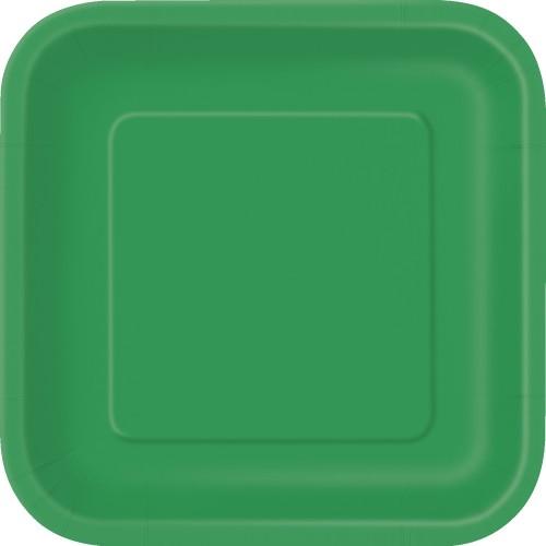 Kvadrat tanjir 18cm - ljubičasta 16 kom