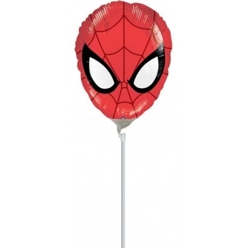 Ultimate Spiderman Head - folija balon na štapiću