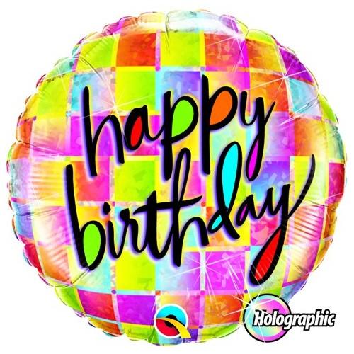 Birthday Kaleidoscope - folija balon