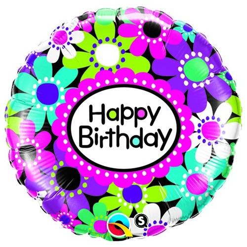 Birthday Daisy Patterns - folija balon
