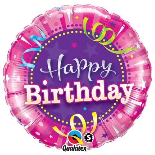 Birthday Hot Pink - folija balon