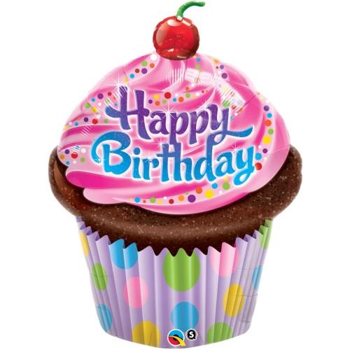 Birthday Frosted Cupcake - folija balon