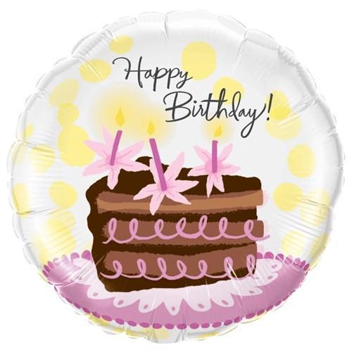 Birthday Chocolate Cake Slice - folija balon