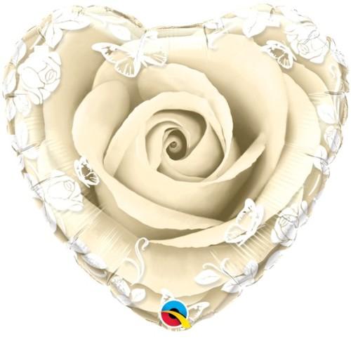 Ivory Roses & Butterflies - folija balon