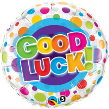 Good Luck Colourful Dots folija balon