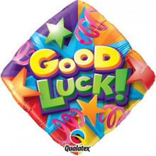 Good LuckStars & Streamers folija balon