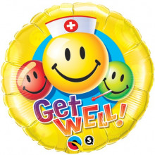 Get Well Smiley Faces - folija balon