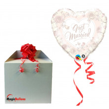 Just Married Roses folija balon u paketu