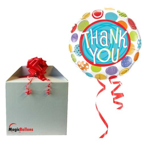 Thank You Patterned Dots folija balon