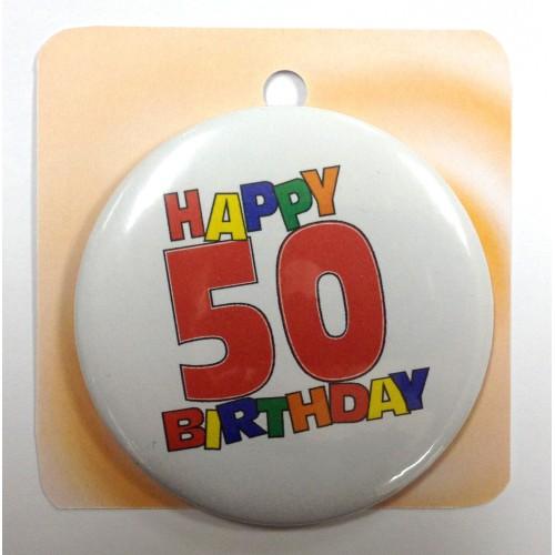 Happy Birthday značka 50