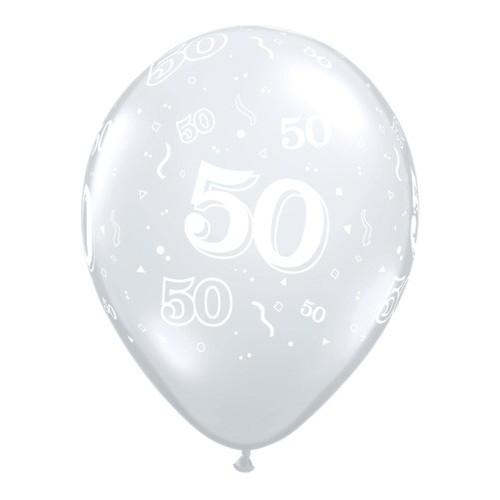 Balon tiskan 50 - Diamond Clear