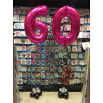Balloons for 60th birthday